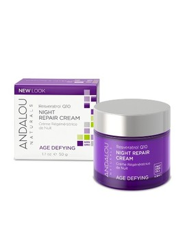 Andalou Naturals Resveratrol Q10 Night Repair Cream   1.7 Oz by Andalou Naturals