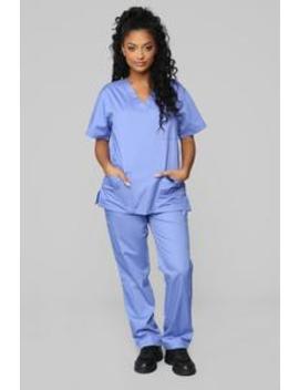 Miracle Worker Classic Scrub Set   Ciel Blue by Fashion Nova