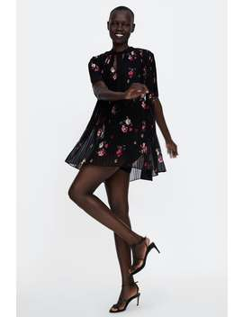 Plisowana Sukienka  Kombinezon Z Nadrukiem Mini Sukienki Kobieta WyprzedaŻ by Zara