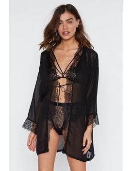 Alive At Night Chiffon Robe by Nasty Gal