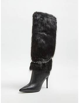 Octavie Boot With Faux Fur by Guess