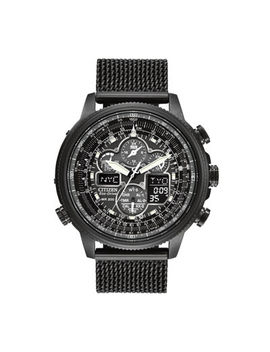 Citizen® Eco Drive® Navihawk A T Mens Mesh Strap Chronograph Watch Jy8037 50 E by Citizen