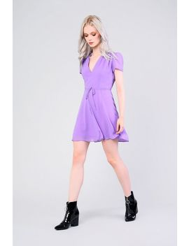 **Tie Waist Tea Dress By Glamorous Petites by Topshop