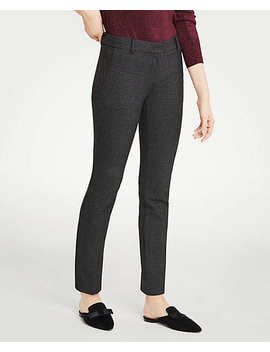 The Petite Ankle Pant In Houndstooth   Curvy Fit by Ann Taylor