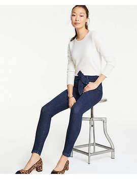 Tie Waist Skinny Jeans by Ann Taylor