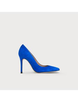 Fern Poolside Blue Suede Heel by L.K.Bennett