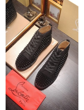 Christian Women Men Studded Louboutin Monclerlied Shoes by I Offer