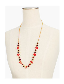 Floral Enamel Long Necklace by Talbots