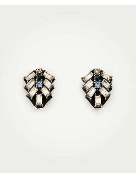 Stone Crystal Stud Earrings by Ann Taylor