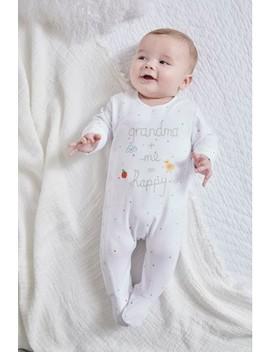 White Grandma Slogan Embroidered Sleepsuit (5 18mths) by Next