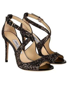Emily Glitter Heeled Sandals by Jimmy Choo