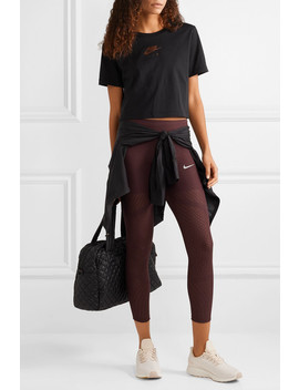 Epic Lux Athena Mesh Paneled Stretch Leggings by Nike
