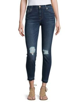 Distressed Skinny Ankle Jeans by 7 For All Mankind