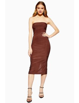 Slinky Bandeau Midi Dress by Topshop