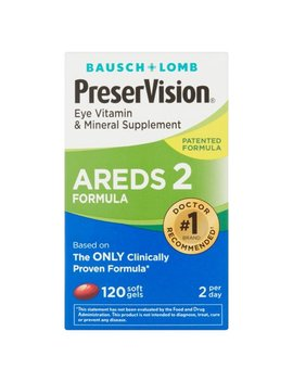 Bausch + Lomb Preser Vision Areds 2 Formula Eye Vitamin Soft Gels, 120 Ct Soft Gels by Preservision