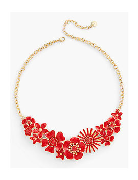 Floral Enamel Necklace by Talbots