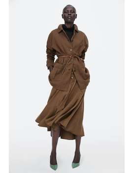 Belted Overshirt  Outerwearstarting From 50 Percents Off Woman Sale by Zara