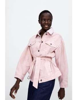 Belted Denim Jacket Z1975  Outerwearstarting From 50 Percents Off Woman Sale by Zara