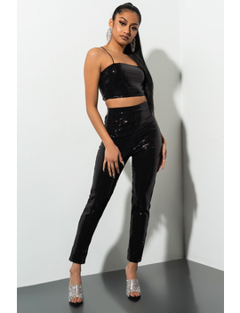 Poppin Off Sparkle Pant by Akira