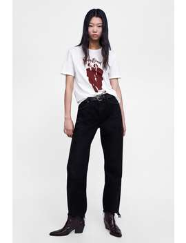 T  Shirt With Girl Printtshirts Starting From 50 Percents Off Woman Sale by Zara