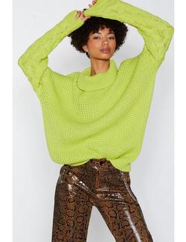 Warm Your Heart Oversized Sweater by Nasty Gal