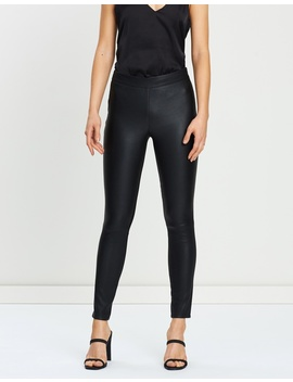 Leather Ponte Leggings by Reiss