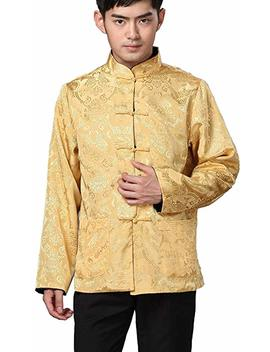 Blingland Chinese Traditional Uniform Top Kungfu Shirt For Men by Blingland