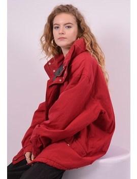 Fila Womens Vintage Windbreaker Jacket Xxl Red 90s by Fila