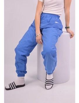 Reebok Womens Vintage Tracksuit Trousers Medium Blue 90s by Reebok