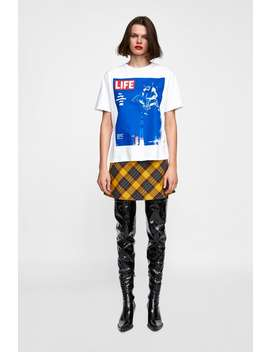 Life© Print T  Shirttshirts Starting From 50 Percents Off Woman Sale by Zara