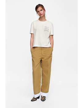 Slogan T  Shirttshirts Starting From 50 Percents Off Woman Sale by Zara