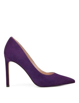 Tatiana Pointy Toe Pumps   Grapevine Suede by Nine West