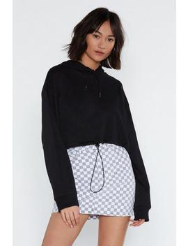 Sweater Times Cropped Hoodie by Nasty Gal