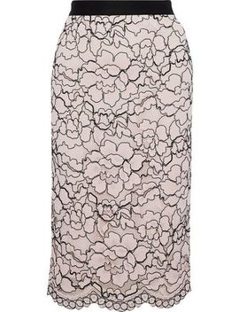 Corded Lace Pencil Skirt by Lela Rose