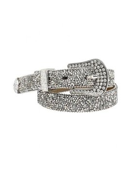 Ariat Women's 1'' Cluster Crystal Rhinestone Belt Silver Xl by Ariat