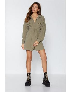 Hands Button Down Utility Dress by Nasty Gal