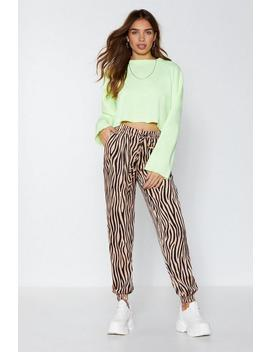 It's Not All Black And White Zebra Joggers by Nasty Gal