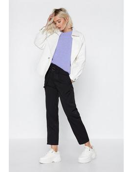 Did You Get That On Tapered Belted Pants by Nasty Gal