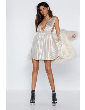 Shine Them Up Metallic Mini Dress by Nasty Gal
