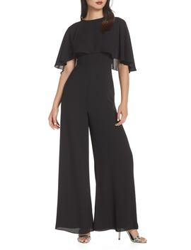 Georgette Jumpsuit With Removable Cape by Fame And Partners