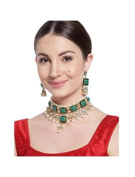 Finekraft Indian Bollywood Designer Bridal Weddings Style Kundan Choker Necklace Earrings Jewelry Set by Etsy