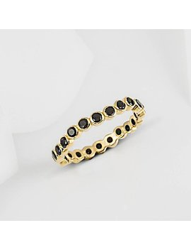 Oscura Black Onyx & Gold Stacking Eternity Ring by Etsy