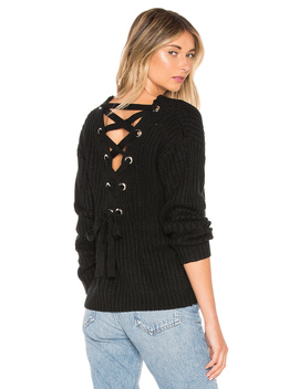 Sandy Lace Up Back Sweater by By The Way.