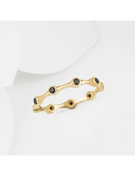 Aura Black Onyx & Gold Eternity Ring Band by Etsy