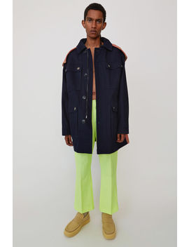 Hooded Parka Navy Blue by Acne Studios