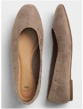 Studded Ballet Flats In Faux Suede by Gap