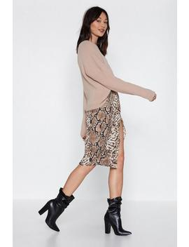 Fang You For Loving Me Snake Skirt by Nasty Gal