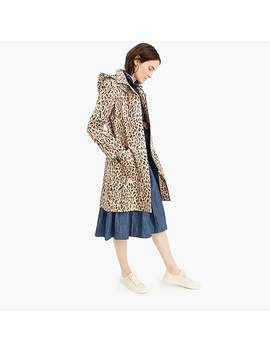 Leopard Print Trench Coat With Removable Hood by J.Crew
