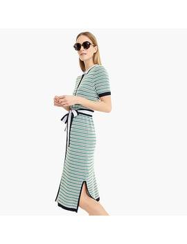 Belted Shirtdress In Textured Knit by J.Crew
