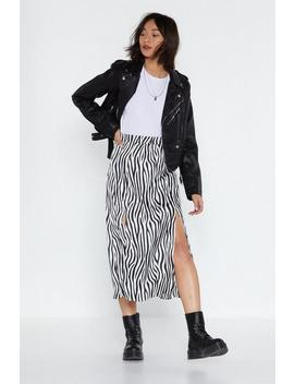 Make Yourself Herd Zebra Skirt by Nasty Gal